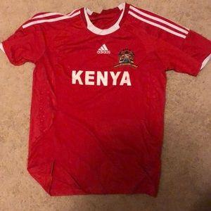 Red Kenya Soccer Jersey 2014-15